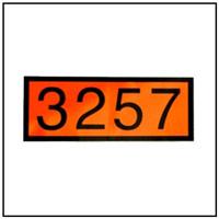 Dot Hazmat 3257 Placard