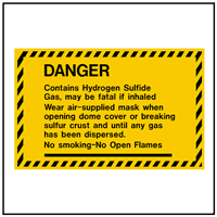 DANGER - Contains Hydrogen Sulfide Gas